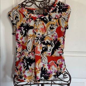 J crew floral sleeveless top